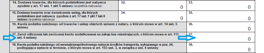 ifirma.pl program do księgowania - zwrot odliczonej ulgi