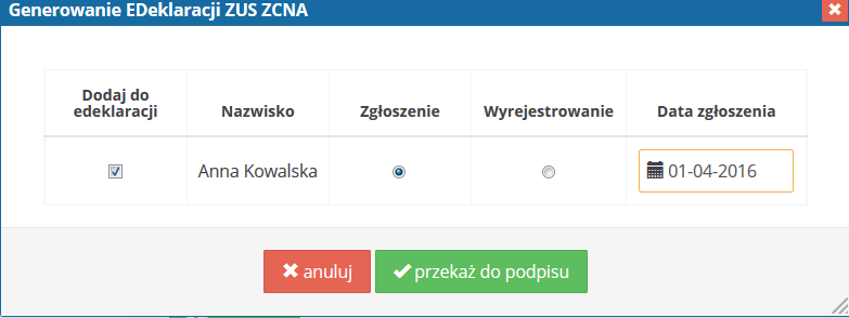 ifirma.pl program do księgowania - Screen 2 generowanie