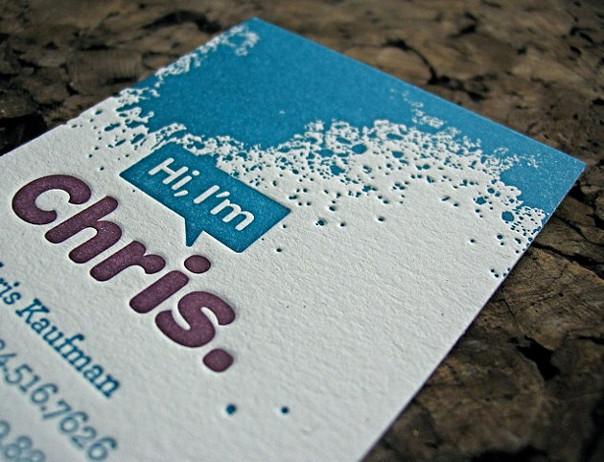 ifirma.pl program do księgowania - letterpress business card