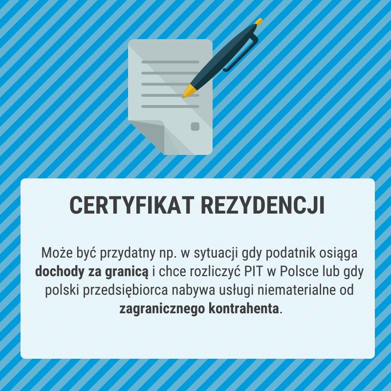 Czym jest certyfikat rezydencji?