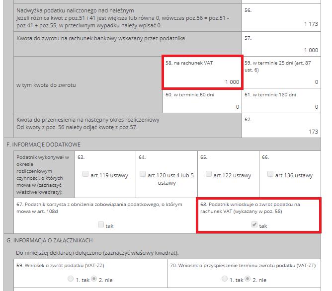 formularz VAT-7/VAT-7K część 2