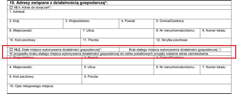 ifirma.pl program do księgowania - miejsce prowadzenia