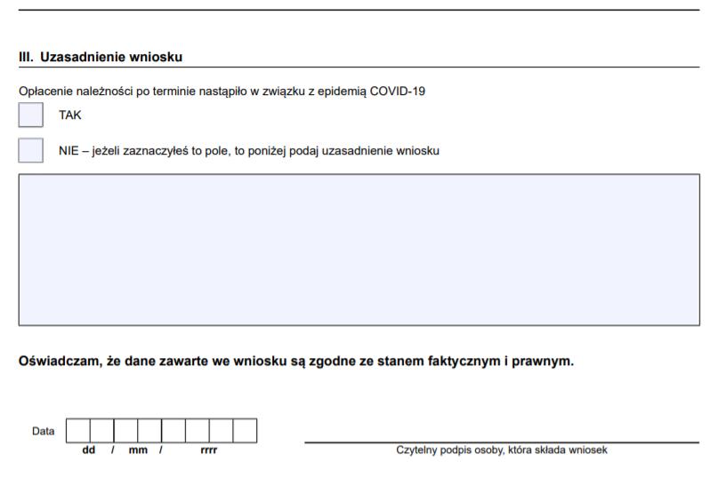 Jak wypełnić wniosek RDO - odstąpienie od pobierania odsetek za zwłokę za okres od stycznia 2020?