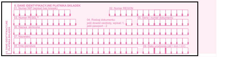dane identyfikacyjne płatnika