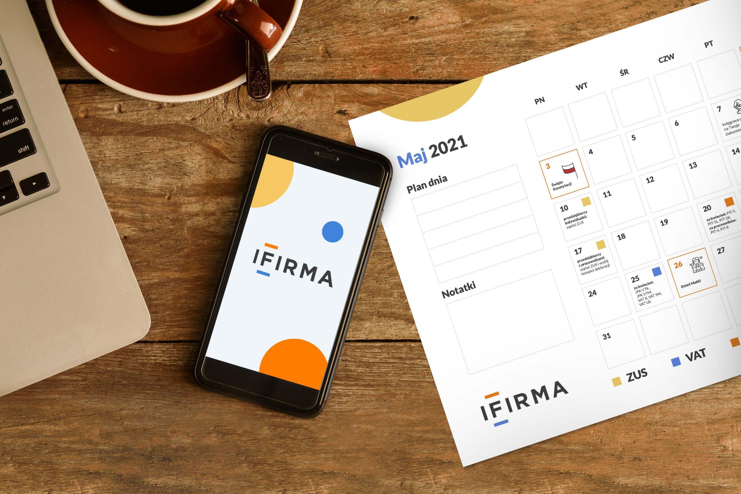 Kalendarz przedsiębiorcy + planer maj 2021