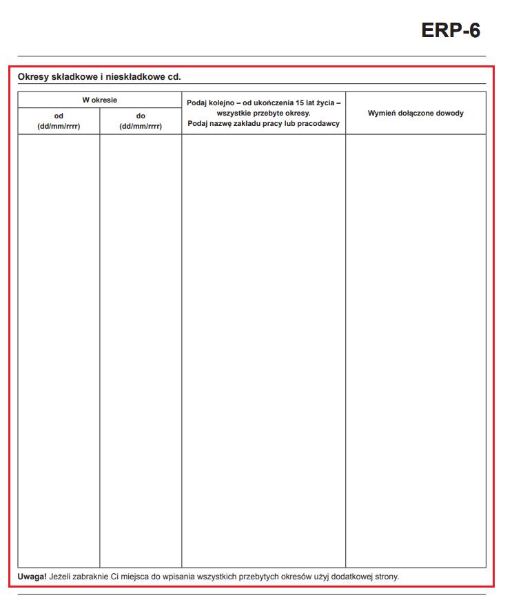 erp-6 okresy składkowe i nieskładkowe 2